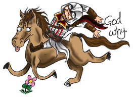 REMEMBER THE GLITCHY ASSASSINS CREED HORSES? by The-Nightmare-Doctor