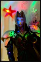Sephiroth and the Christmas Lights by Miarath