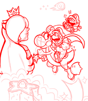 Remake: New Universe, New Mario World -Sketch- by JamesmanTheRegenold