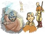 Idle Aang doodles by Deisi