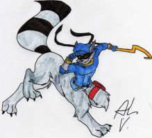 Sly Cooper Taur 2 Com. - Color by dragonheart07