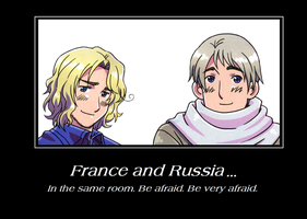France and Russia Motivational Poster by PJTL156