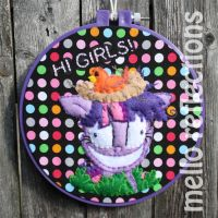Twilight Sparkle Embroidery Hoop by MelloReflections