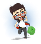 CaptainSparklez (and Jerry!) by QueenCrabbyBlue