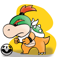 Bowser Koopa Jr. (mistakenly drawn as Baby Bowser) by EquidnaRojo