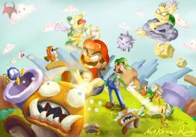 Super Mario Brothers Fanart by NoaKatzir