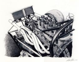 Ferrari 612p engine by klem