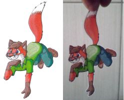 paperfuzz FoxT Foxquirrel by WILLYTEMPELDELEO