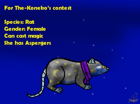 Rat OC for The-Koneko by Huqstuff