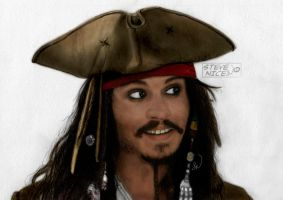 Jack Sparrow Colour by Steve-Nice