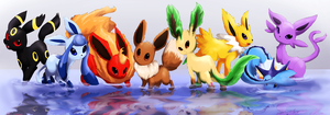 Eeveelutions by Foxeaf