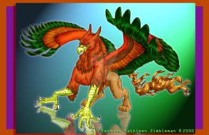 Rhode Island Red Gryphon 2000 by BlackUniGryphon