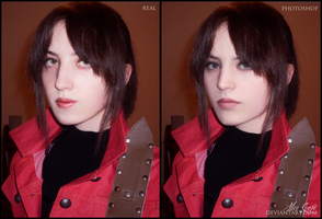 Claire Redfield cosplay (Real vs. Photoshop) by AliceCroft