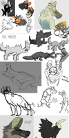 Huge Sketch Dump by Dusty-Demon