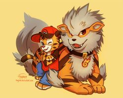 Axel and Arcanine by Haychel