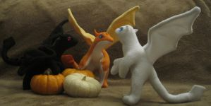 Baby Halloween Dragons by Skylanth