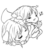 Tired Babies [line] by criselaine