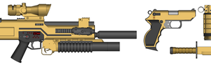 MIBARS Gold Multiple Attachments by GrimReaper64