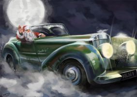 Santa's new ride by agentscarlet