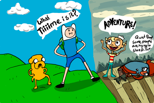 Adventure time for four by chipscribbles