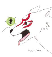 Ammy and Issun by fullxmetalxgir