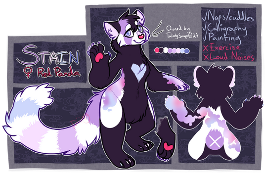 Stain (Red Panda) Ref Sheet by TaiintySoup