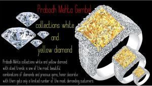 Prabodh Mehta Gembel Collections white and yellow by PrabodhMehta