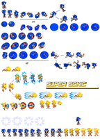 Sonic Adventure 2 sprites by dinojack9000