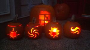 Spurb Halloween Pumpkins by time-tier