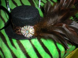 Brown Feathered Hat by Oriana-X-Myst