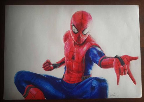 SpiderMan Homecoming Drawing by ROssO97Uchiha