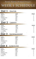 PH World Finals :: Week 1 Schedule by Show-Society