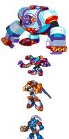 "MegaMan ""Sprites""-Bosses of 8 by WaneBlade"