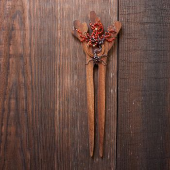August Tree hair pin by WhiteSquaw