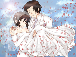 Smile, it's our wedding da ze by BlackLadySango