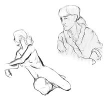 Life Drawing . Long Poses by Sorren-Chan