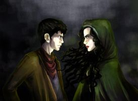 Merlin vs Morgana by incaseyouart
