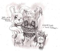 .: Two styles of SpringTrap :. by PrideAlchemist7