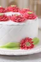 Gerbera cake detail by kupenska