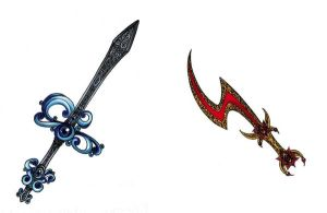 Fire and Water Sword Adopts, Closed. by madhatterkyoko
