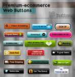 Premium-ecommerce Web Buttons by kh2838