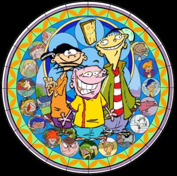 Ed, Edd n' Eddy Stained Glass by TrefRex