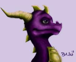 Spyro The Dragon (colored) by XTaeKwonDoDoX