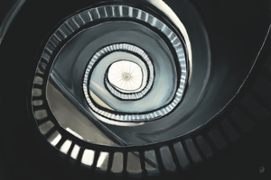 Spiral Staircase by Sauny