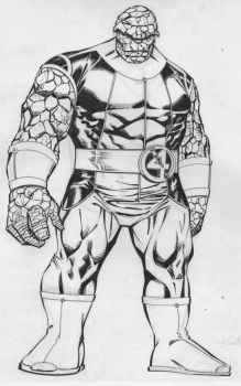 Thing - Jim Sanders III inks by SpiderGuile