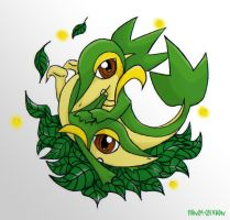 Snivy by Shinra-Creation