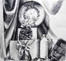 charcoal still life by Alice-chan
