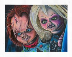 Chucky and Tiffany by greyfoxdie85
