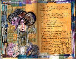 Art Journal - 2011 Woman Doodle by QueenofCupcakes
