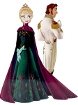 Hans and Elsa at the coronation - Edited Brighter by inspired-flower